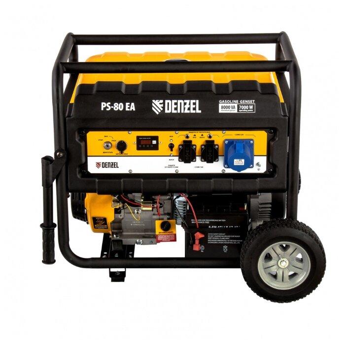 Бензиновый генератор Denzel PS 80 EA (7000