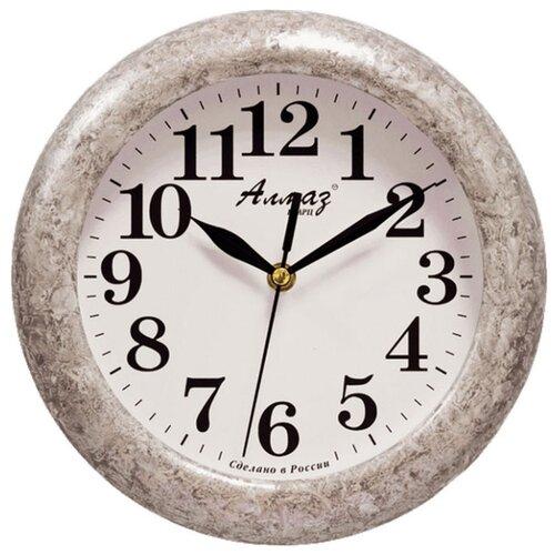 Часы настенные кварцевые Алмаз P04-P10 серый/белый часы настенные кварцевые алмаз p04 p10 бежевый белый