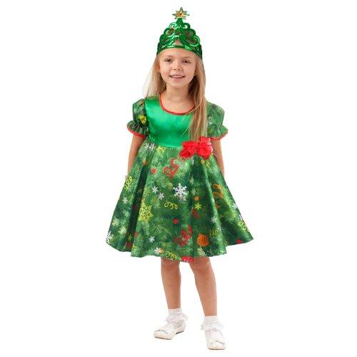 Купить Костюм пуговка Ёлочка (1026/1 к-18), зеленый, размер 128, Карнавальные костюмы