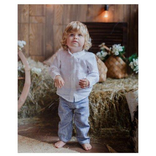 Купить Брюки Лапушка 306л размер 86, синий, Брюки и шорты