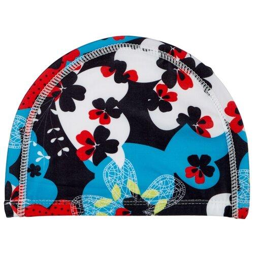 Шапочка для плавания BRADEX полиэстер синий/красный bradex шапочка для плавания bradex полиамид синий