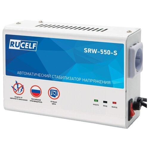Стабилизатор напряжения однофазный RUCELF SRW-550-S белый/синий