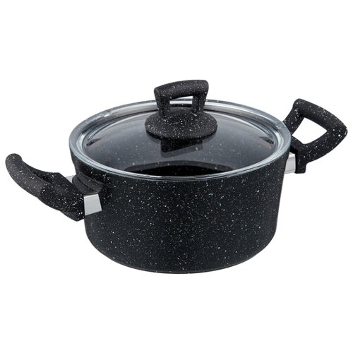 Кастрюля КАТЮША Классика 8020-300 2,5 л, черный гранит кастрюля катюша классика 8020 500 4 л черный