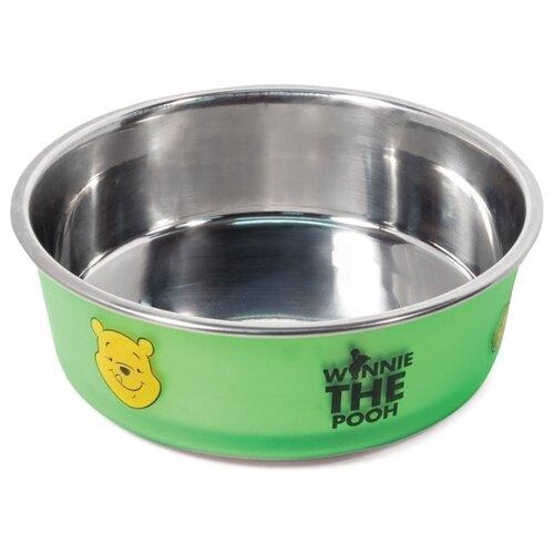 Фото - Миска металлическая Triol Disney Winnie the Pooh, на резинке, 180 мл игрушка для собак triol disney winnie the pooh тигруля полиэстер 35 см 1 шт