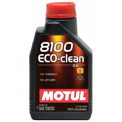 Моторное масло Motul 8100 Eco-clean 5W30 1 л моторное масло motul 8100 x clean fe 5w 30 1 л