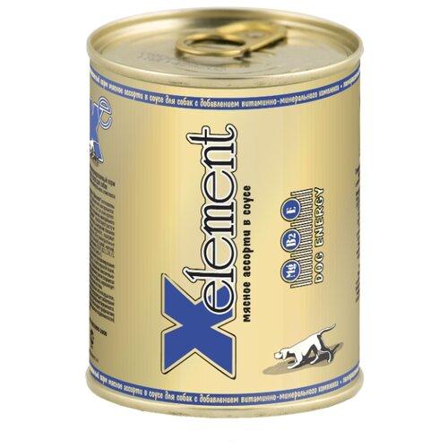 Влажный корм для собак X-Element мясное ассорти 850г