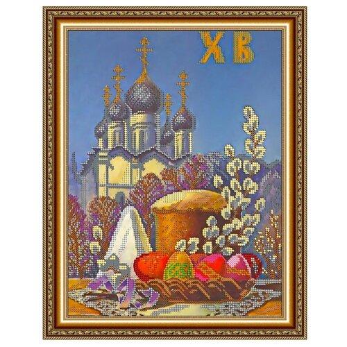 Светлица Набор для вышивания бисером Пасхальная 24 х 30 см, бисер Чехия (203)