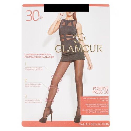 Колготки Glamour Positive Press 30 den, размер 3-M, nero (черный) колготки glamour velour 3 70 den черный