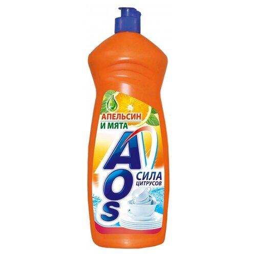 AOS Средство для мытья посуды Апельсин и мята 0.9 кг
