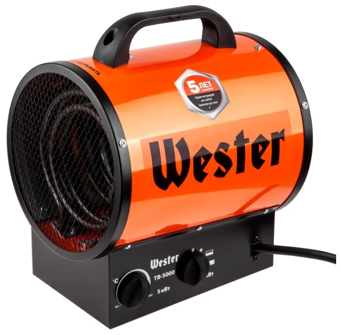 Электрическая тепловая пушка Wester TB-5000 (5 кВт)