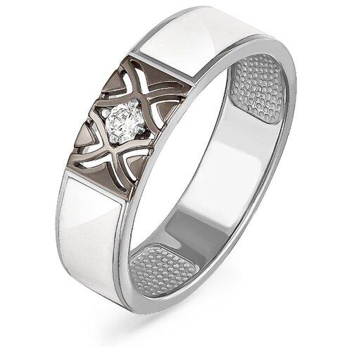 Фото - KABAROVSKY Кольцо с 1 бриллиантом из белого золота 11-11046-1010, размер 17 kabarovsky кольцо с 11 бриллиантами из белого золота 11 1803 1010 размер 17