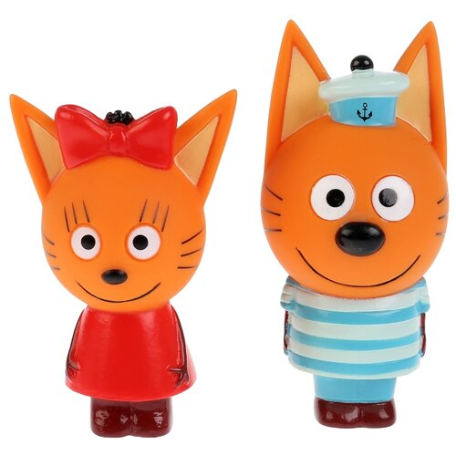 Купить Набор для ванной Играем вместе Карамелька и Коржик (STFT1809-08BL-TC) красный/голубой, Игрушки для ванной