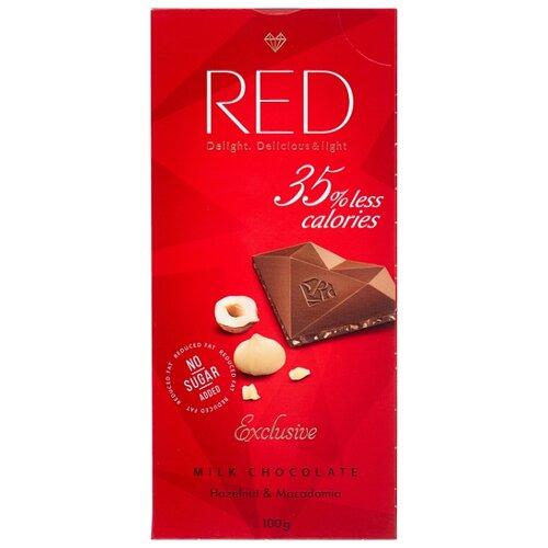 Шоколад Red Молочный RED Фундук и Макадамия, 100 г косметика для волос макадамия отзывы