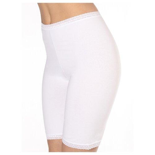 Sisi Трусы панталоны высокой посадки с кружевной отделкой, размер XL(50), bianco