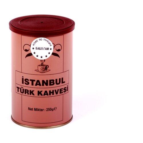 Кофе молотый İstanbul Türk Kahvesi c ароматом бабл-гам, жестяная банка, 250 г tarkan istanbul