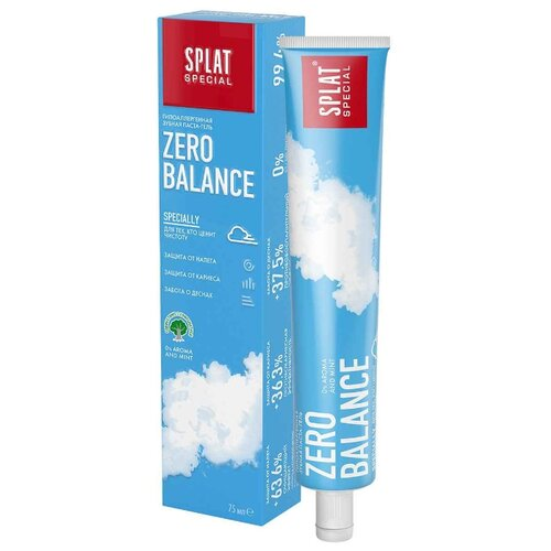 Зубная паста SPLAT Special Zero Balance, 75 мл splat набор splat гипоаллергенная зубная паста зеро баланс 75 мл 2 штуки splat special