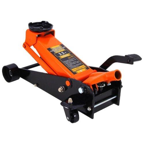 Домкрат подкатной гидравлический АвтоDело 43355 (3.5 т) оранжевый/черный