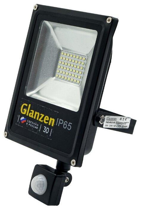 Прожектор светодиодный с датчиком движения 30 Вт Glanzen FAD-0012-30