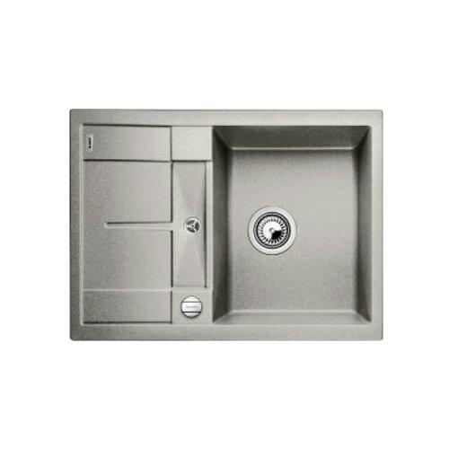 Врезная кухонная мойка 68 см Blanco Metra 45S Compact жемчужный врезная кухонная мойка 78 см blanco metra 45s 525311 бетон