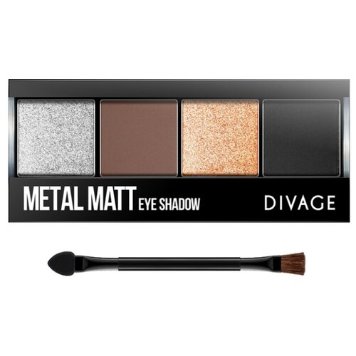 DIVAGE Палетка теней для век Metal matt 01 помада для губ divage metal matt 02