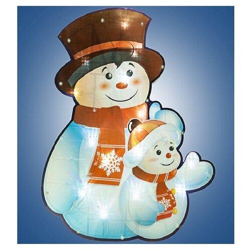 Фото - Панно SNOWMEN Снеговик со снеговичком 37 х 45 см, белый snowmen ель 25 е50050
