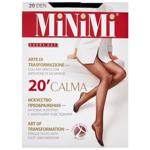 Колготки MiNiMi Calma, 20 den, размер 2-S/M, nero (черный) колготки minimi calma 20 den размер 5 xl nero черный