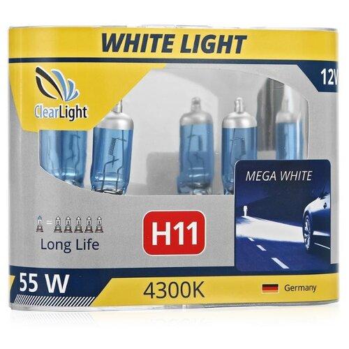 Лампа автомобильная галогенная ClearLight H11 MLH11WL 12V, 55W 2 шт. clearlight h11 3000 lm 2шт