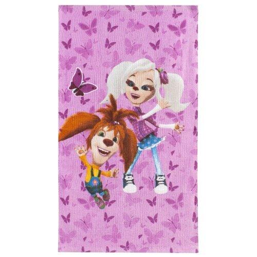 YUXIN HOME TEXTILES Полотенце Барбоскины Лиза и Роза для рук 50х90 см розовый