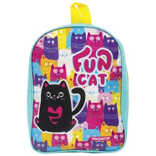 цена на Пифагор Рюкзак Черный кот, бирюзовый
