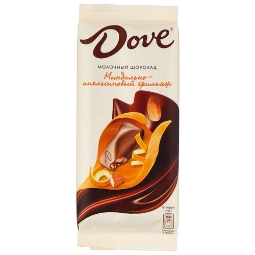 шоколад dove молочный с инжиром 90 г Шоколад Dove молочный с миндально-апельсиновым грильяжем, 90 г