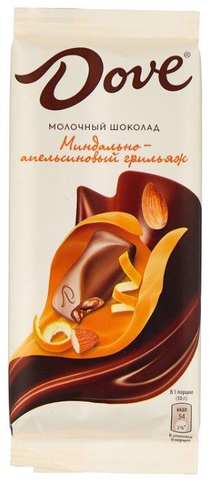 Купить Шоколад Dove молочный с миндально-апельсиновым грильяжем, 90 г по низкой цене с доставкой из Яндекс.Маркета (бывший Беру)
