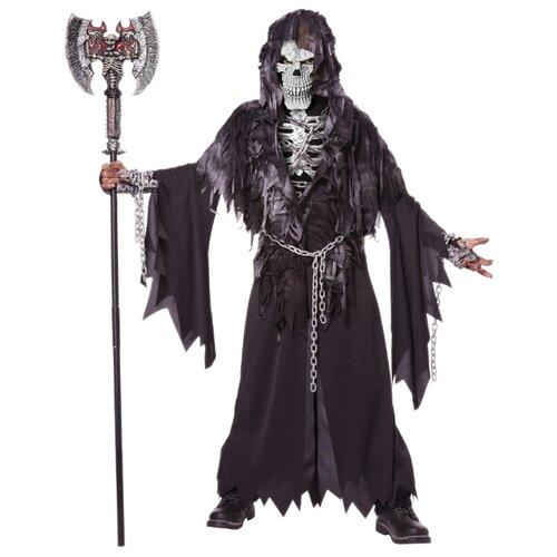 Купить Костюм California Costumes Злой скелет 00463, черный, размер XL (12-14 лет), Карнавальные костюмы