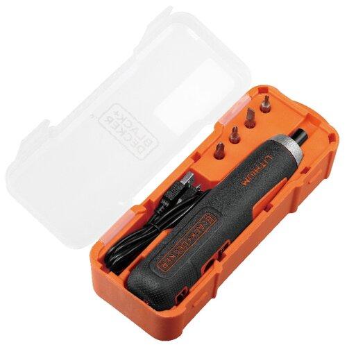 Аккумуляторная отвертка BLACK+DECKER BD40K4 аккумуляторная отвертка black decker cs3651lc