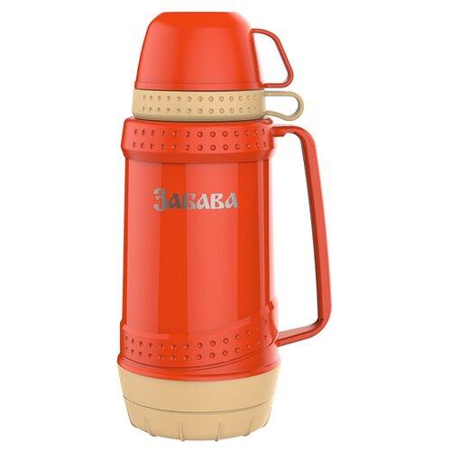 Классический термос Забава РК-1803, 1.8 л оранжевый/бежевый