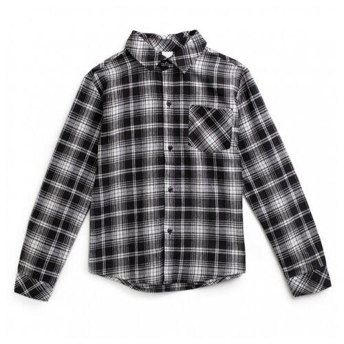 Рубашка playToday размер 134, белый/серый