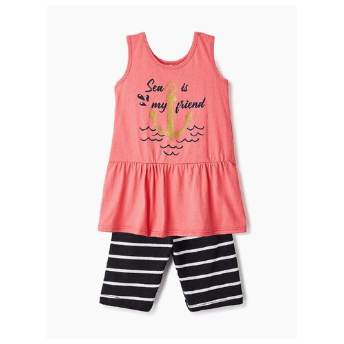 Комплект одежды Elaria размер 128, розовый/синий комплект одежды looklie размер 128 134 розовый