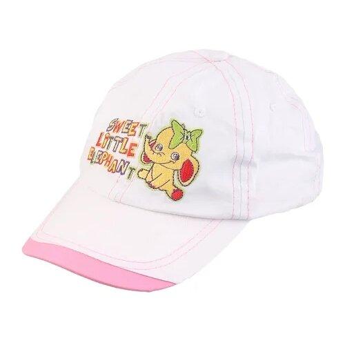 Купить Бейсболка Be Snazzy размер 46, белый/розовый, Головные уборы