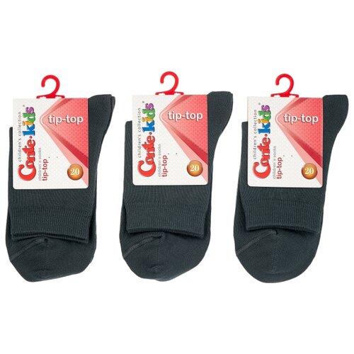 Купить Носки Conte-kids комплект 3 пары размер 20, темно-серый