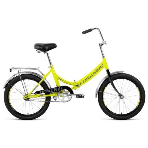 цена на Городской велосипед FORWARD Arsenal 20 1.0 (2020) салатовый/серый 14