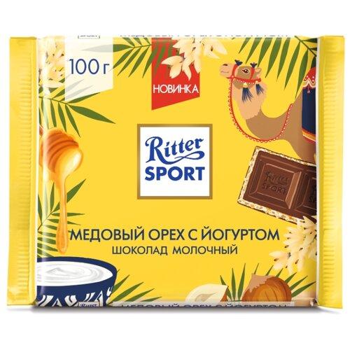 Шоколад Ritter Sport Медовый орех с йогуртом молочный с йогуртовой начинкой и медовой хрустящей крошкой, 100 г