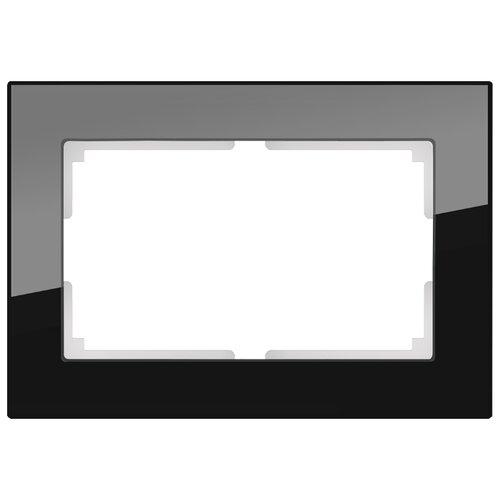 Рамка 1п Werkel WL01-Frame-01-DBL, черный рамка 1п werkel wl01 frame 01 dbl белый
