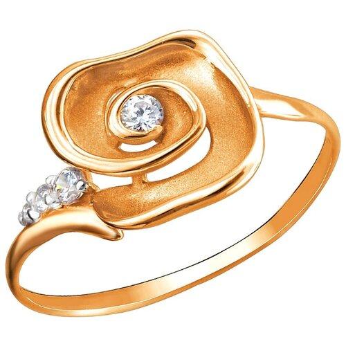 Эстет Кольцо с 4 фианитами из красного золота 01К1112466Р, размер 17.5 фото