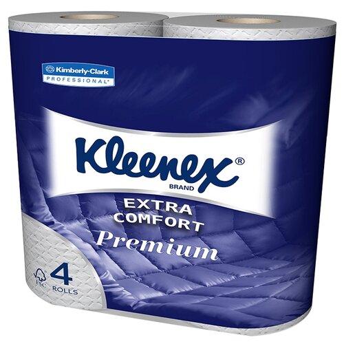 Купить Туалетная бумага Kleenex Premium Extra Comfort 8484 четырёхслойная белая 4 рул.