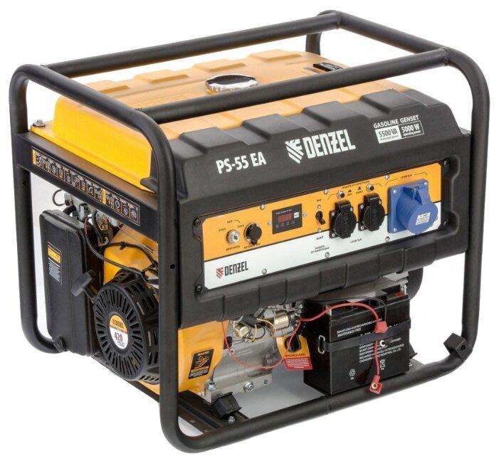Бензиновый генератор с автозапуском Denzel PS 55 EA 5 кВт