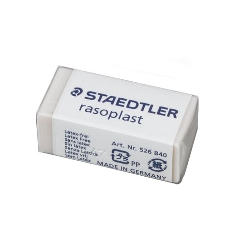 Staedtler Ластик Rasoplast (526 B40) белый staedtler ластик rasoplast 526 b20 белый