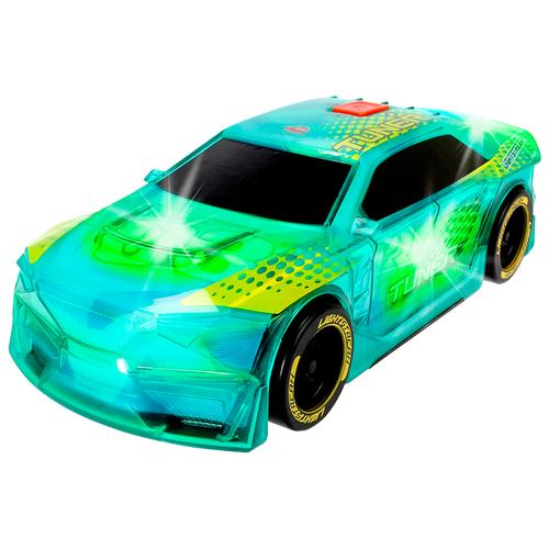 Фото - Гоночная машина Dickie Toys 3763003 20 см голубой/зеленый погрузчик dickie toys дорожно погрузочная машина 3726000 35 см желтый белый