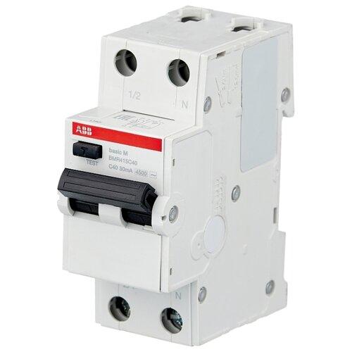 Дифференциальный автомат ABB BMR415 2П 30 мА C 40 А автомат abb 2cds213001r0204