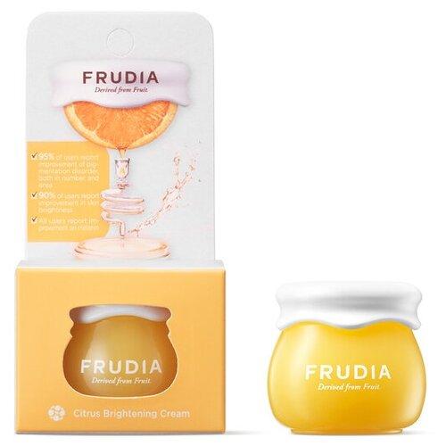 Frudia Citrus Brightening Cream Осветляющий крем для лица с экстрактом цедры мандарина, 10 г пенка frudia citrus brightening micro cleansing foam объем 145 мл