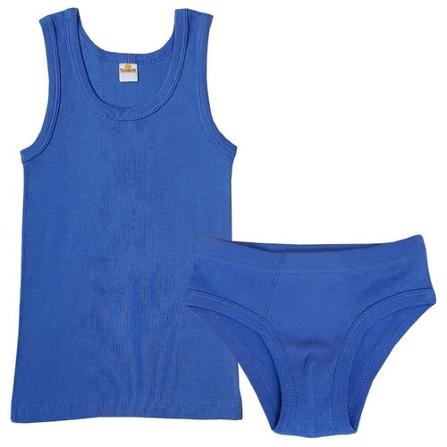 Комплект нижнего белья Папитто размер 92-98, синий комплект нижнего белья ibala размер 30 92 98 белый розовый красный