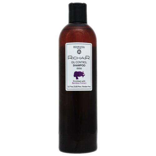 Фото - Egomania шампунь Richair Oil control для жирных волос с экстрактом бамбука, 400 мл egomania шампунь richair blond для осветлённых и обесцвеченных волос 400 мл